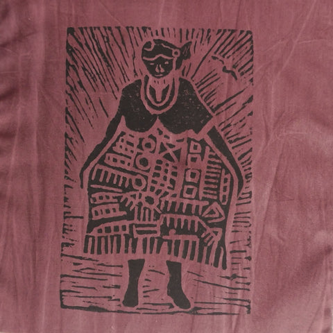 South African Panel - African Woman in Pinkish Brown