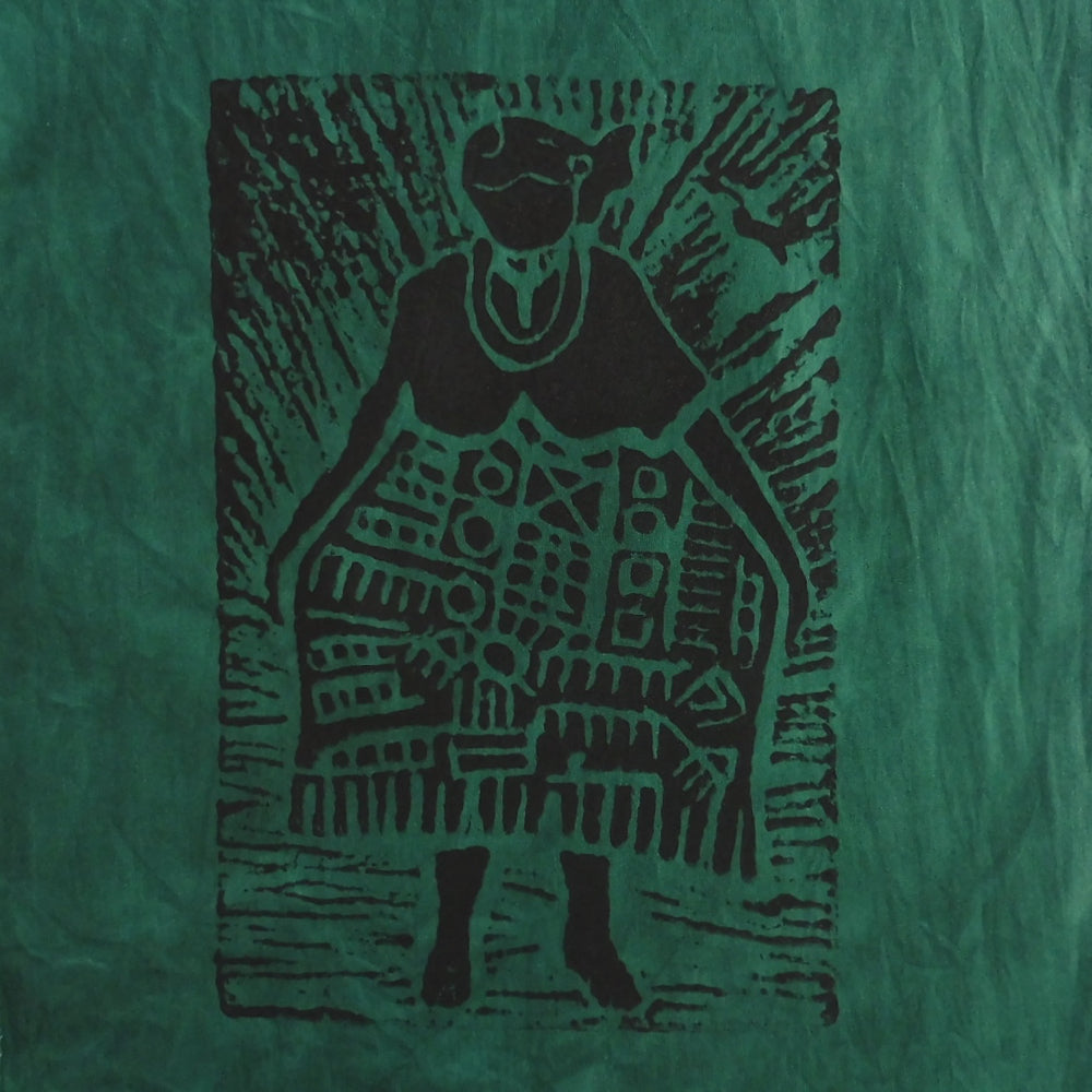 South African Panel - African Woman in Dark Green