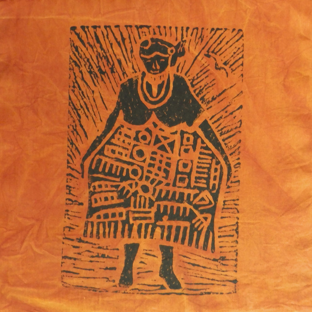 South African Panel - African Woman in Orange