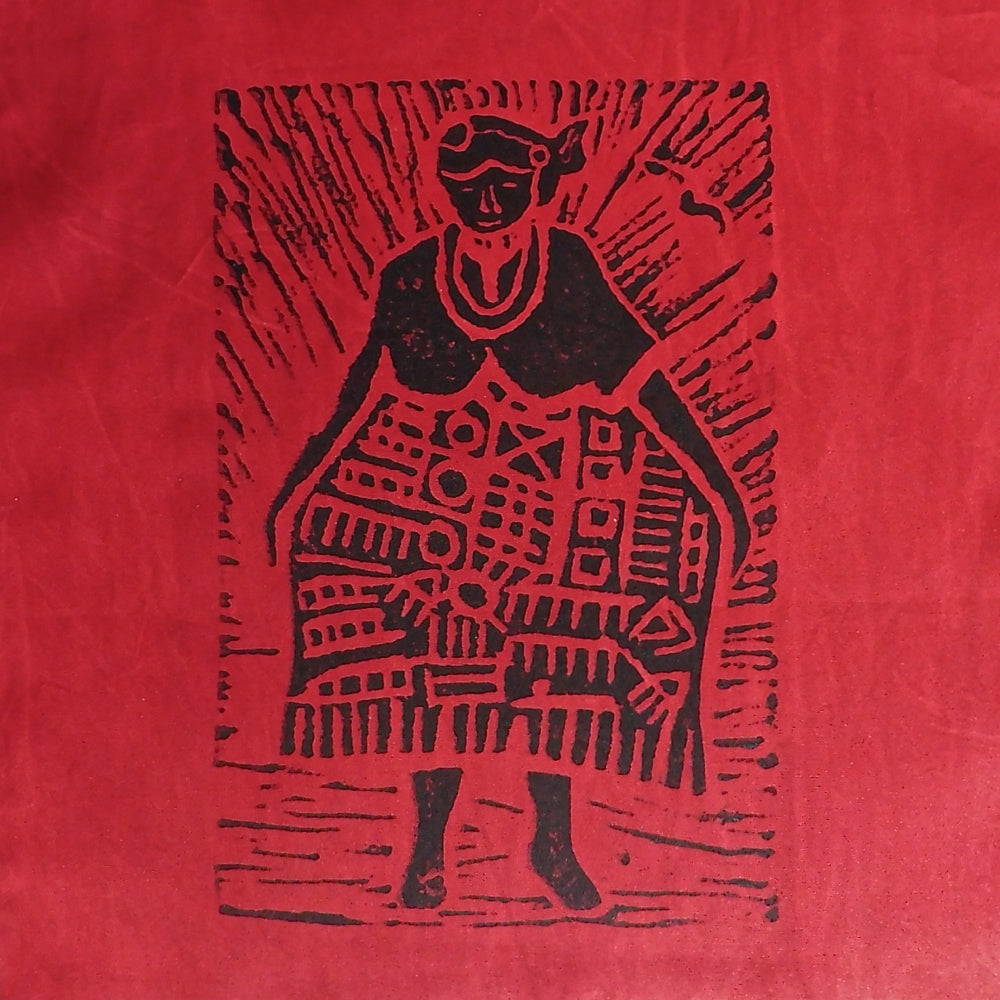 South African Panel - African Woman in Red