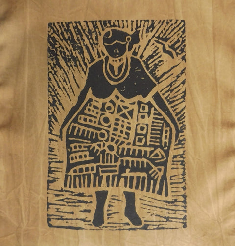 South African Panel - African Woman in Tan