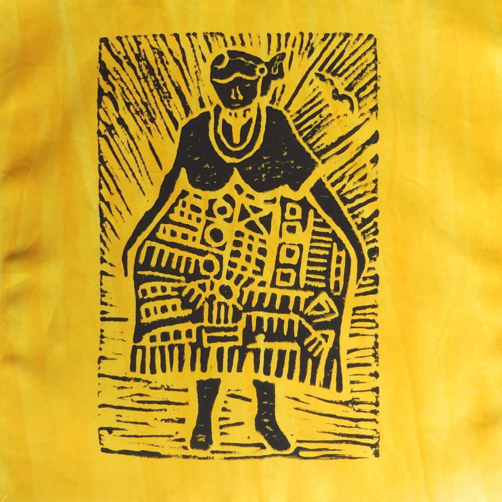 South African Panel - African Woman in Bright Yellow