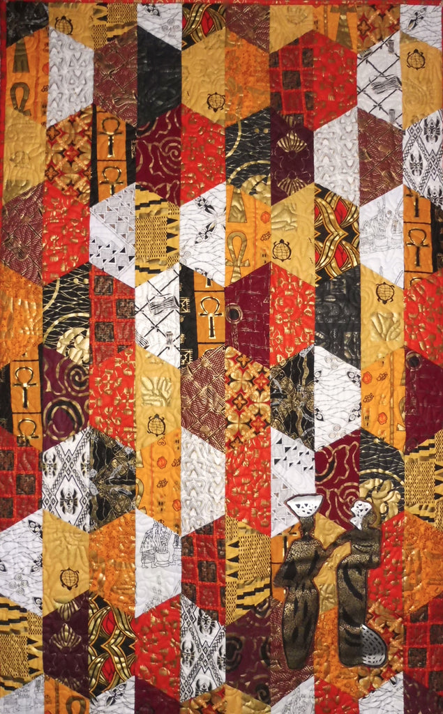 Sold Quilt - African Hexcentric