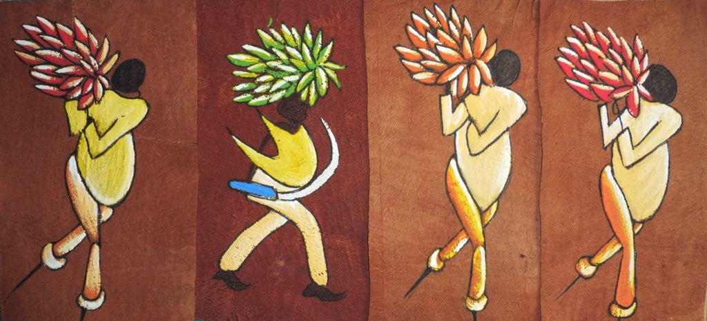Ugandan Bark Cloth Painting - Miscellaneous Larger Paintings