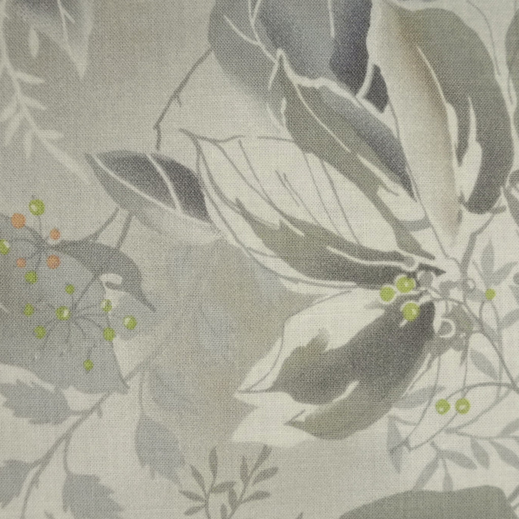 Japanese Quilting Print - Green Leaf and Berry