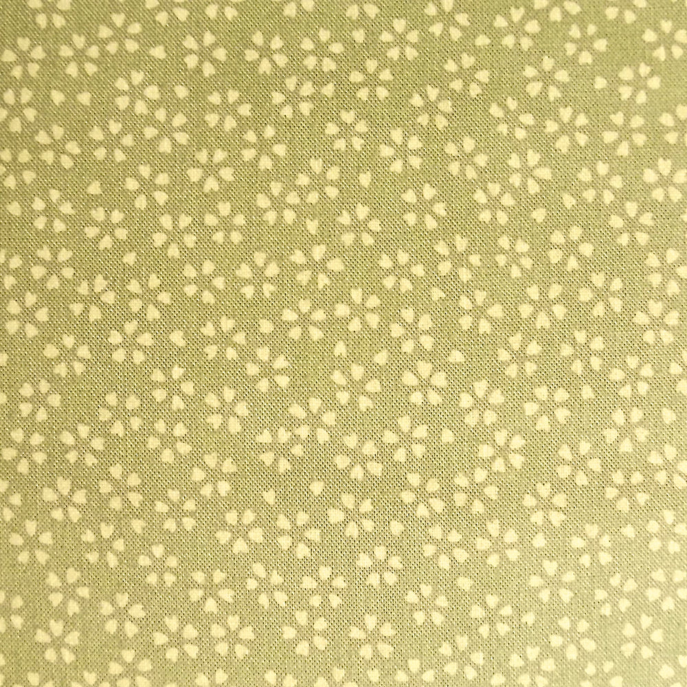Japanese Quilting Print - Green Cherry Blossom