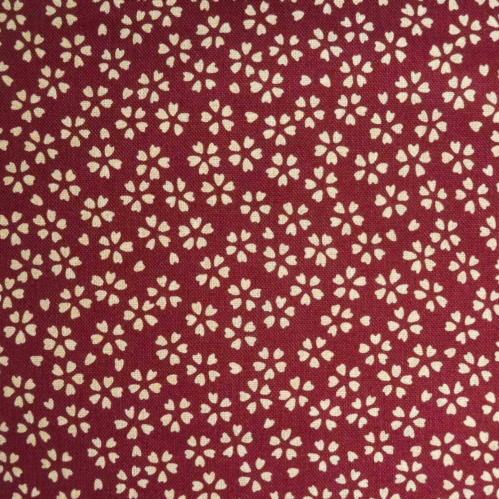 Japanese Quilting Print - Red Blossom