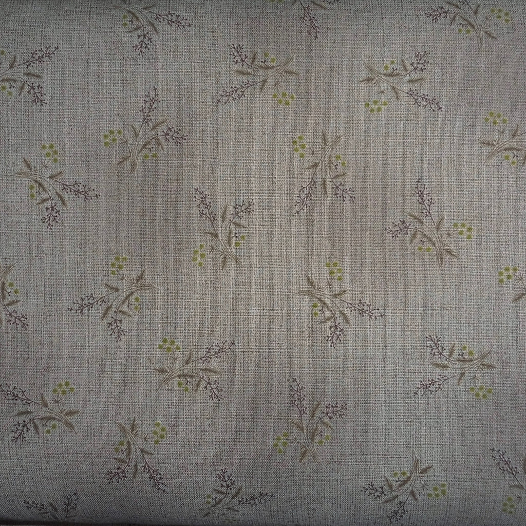 Japanese Quilting Print - Dark Taupe Bouquet