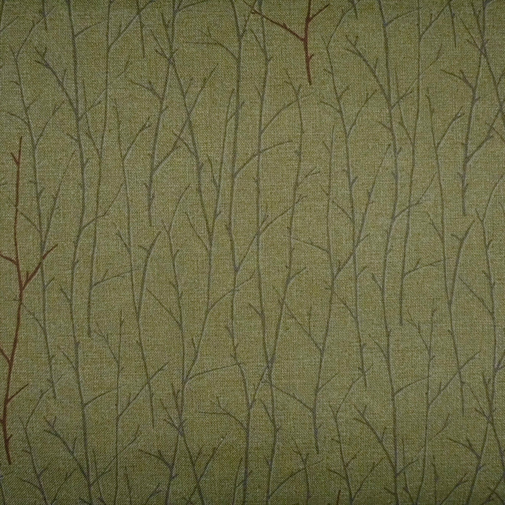 Japanese Quilting Print - Green Branch