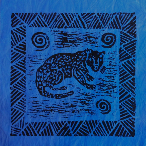 South African Panel - Cheetah in Blue
