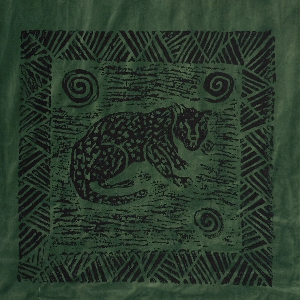 South African Panel - Cheetah in Dark Green