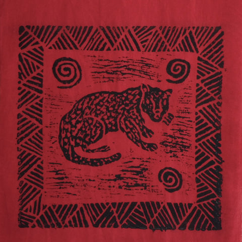 South African Panel - Cheetah in Red