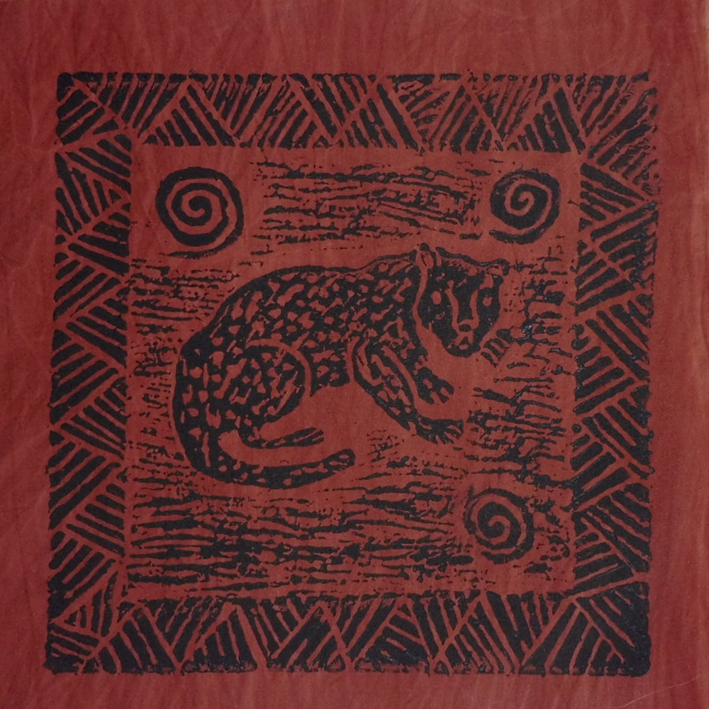 South African Panel - Cheetah in Dark Rusty Red