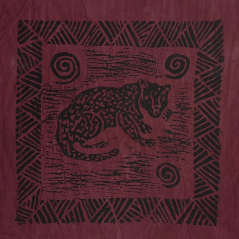South African Panel - Cheetah in Maroon