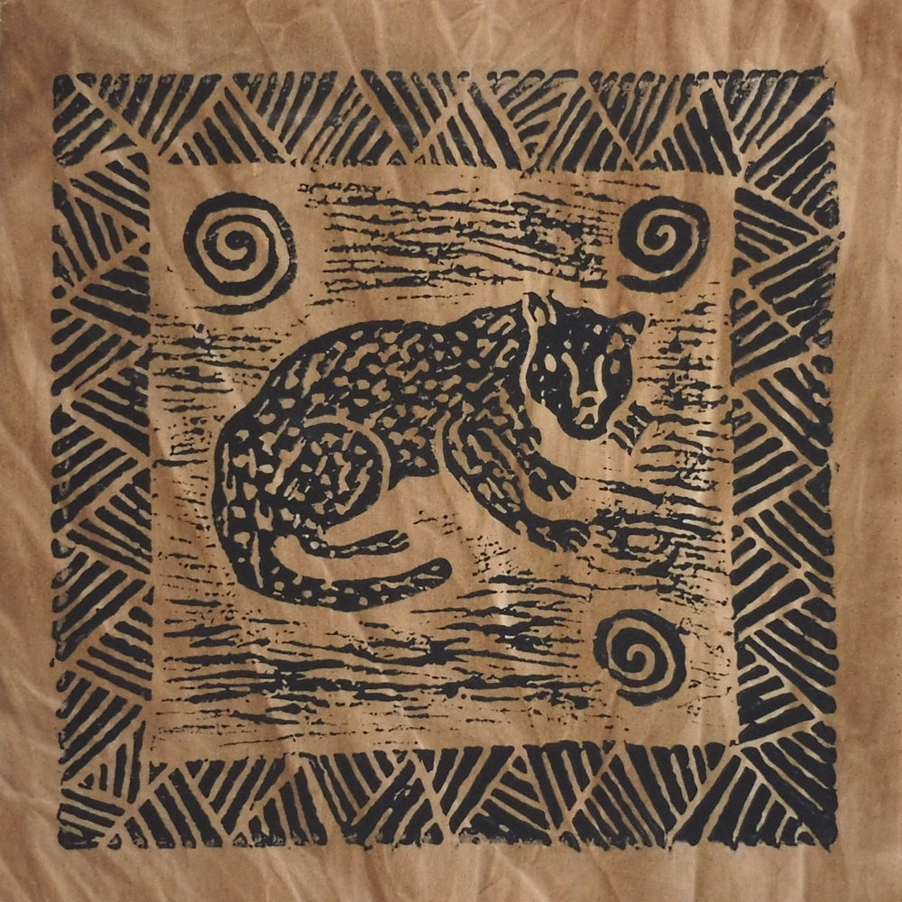South African Panel - Cheetah in Tan