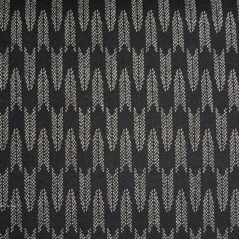 Japanese Quilting Print - Black Chevron