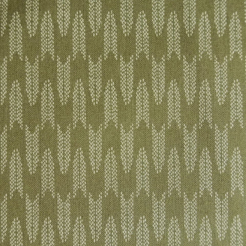 Japanese Quilting Print - Green Chevron