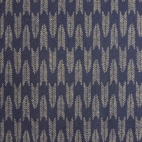 Japanese Quilting Print - Dark Blue Chevron