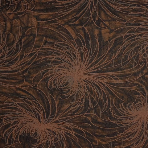 Japanese Quilting Print - OVERSTOCK - Brown Chrysanthemum