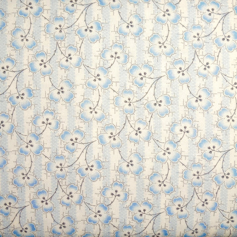 Japanese Quilting Print - Blue Clover
