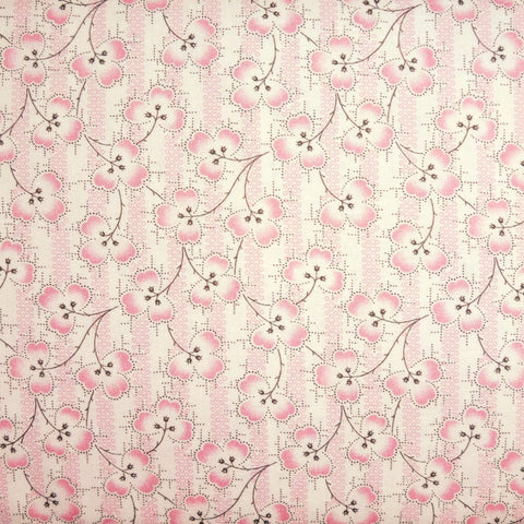 Japanese Quilting Print - Pink Clover