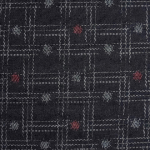 Japanese Quilting Print - Dark Blue Dot and Dash