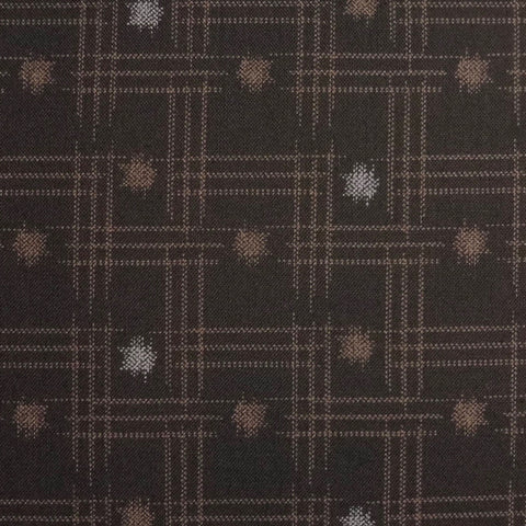 Japanese Quilting Print - Brown Dot and Dash