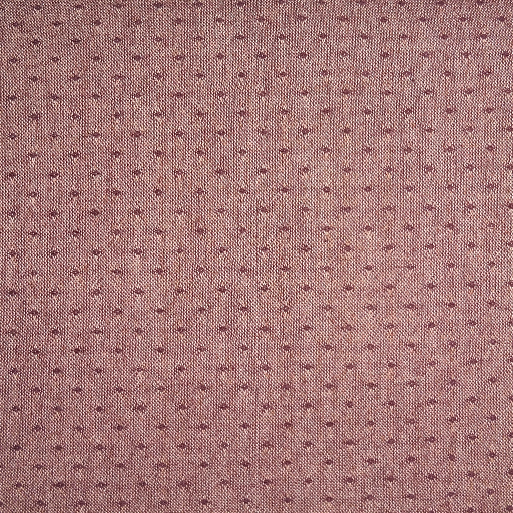 Japanese Yarn Dye - Dark Pink Woven Dot