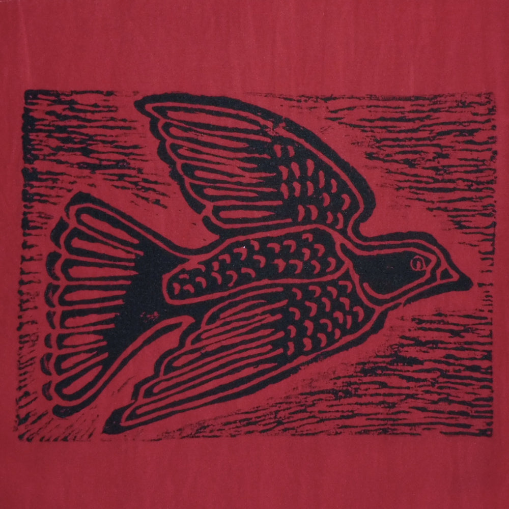 South African Panel - Dove in Red