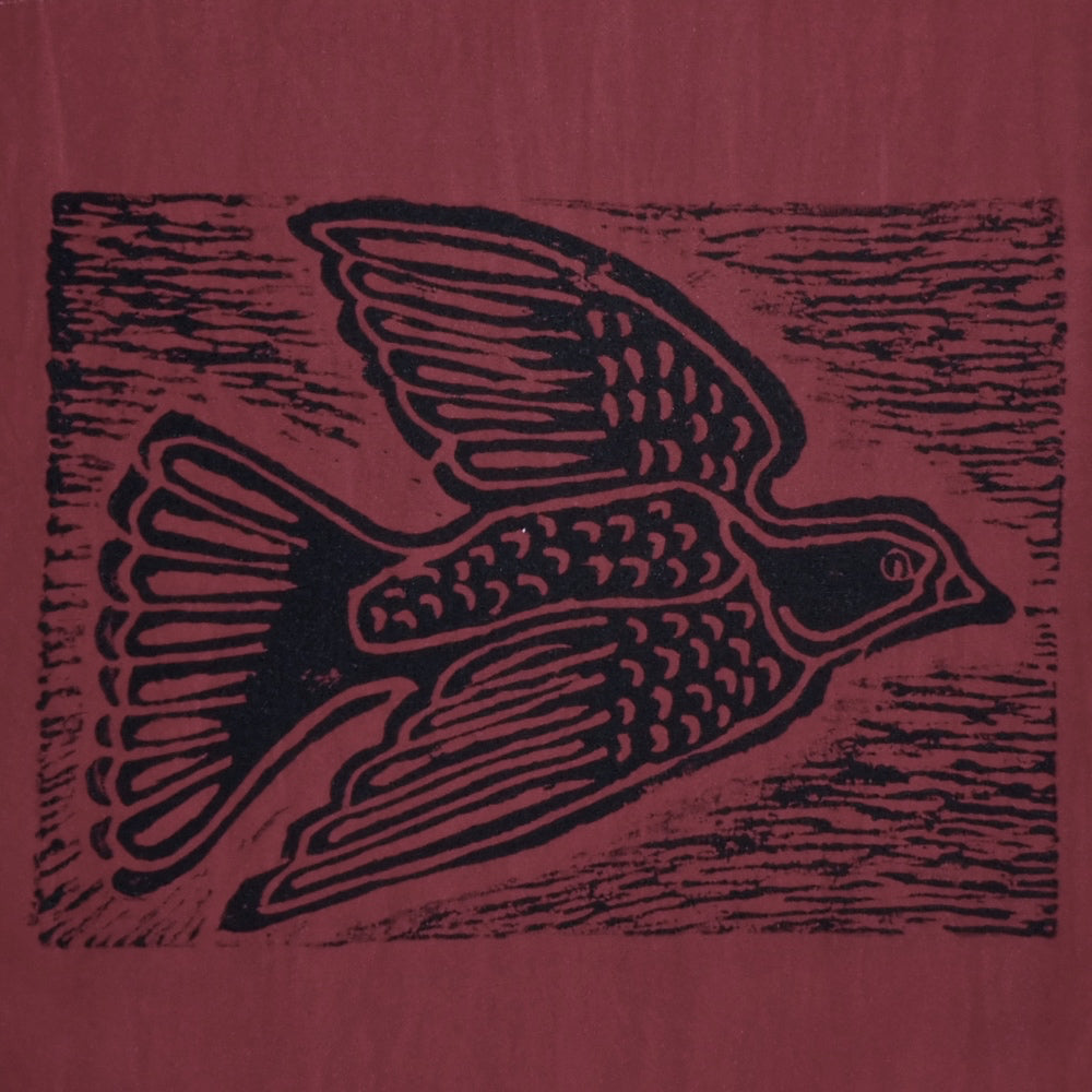 South African Panel - Dove in Dark Red