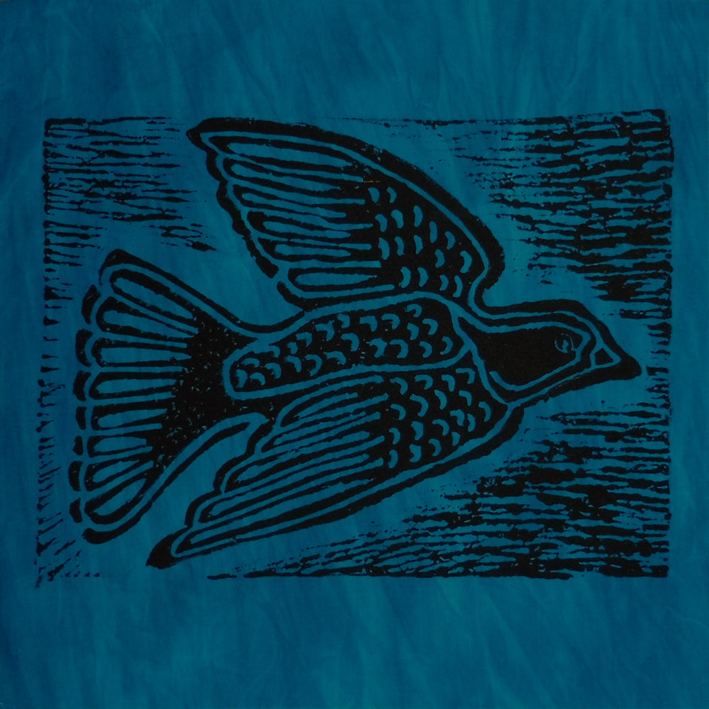 South African Panel - Dove in Teal