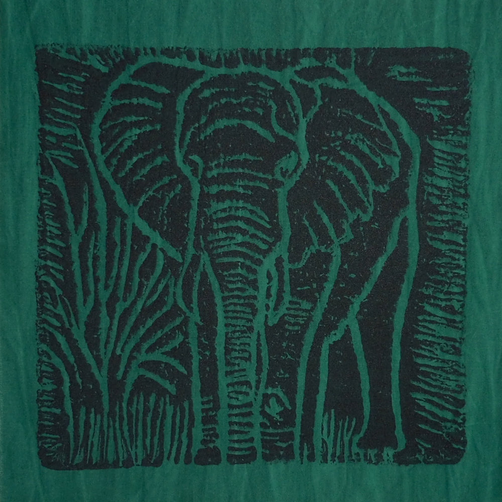 South African Panel - Elephant in Dark Green