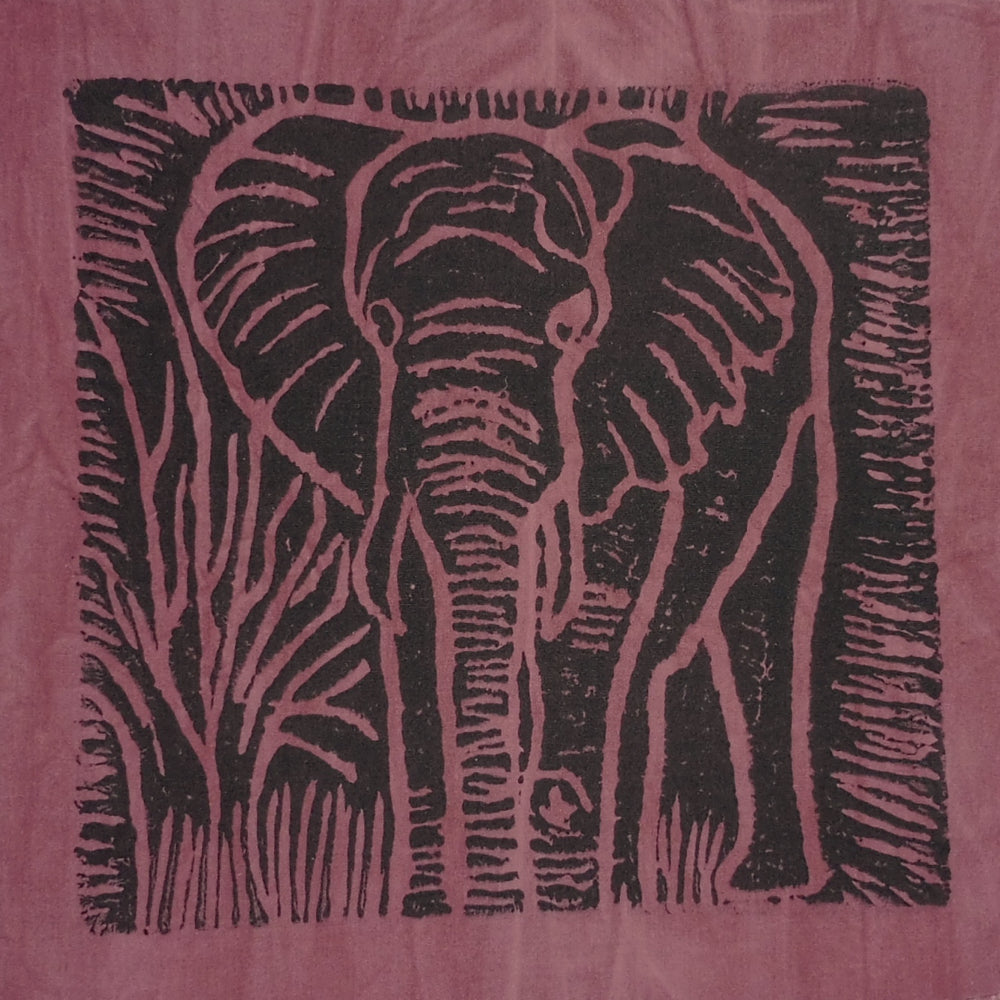 South African Panel - Elephant in Plum