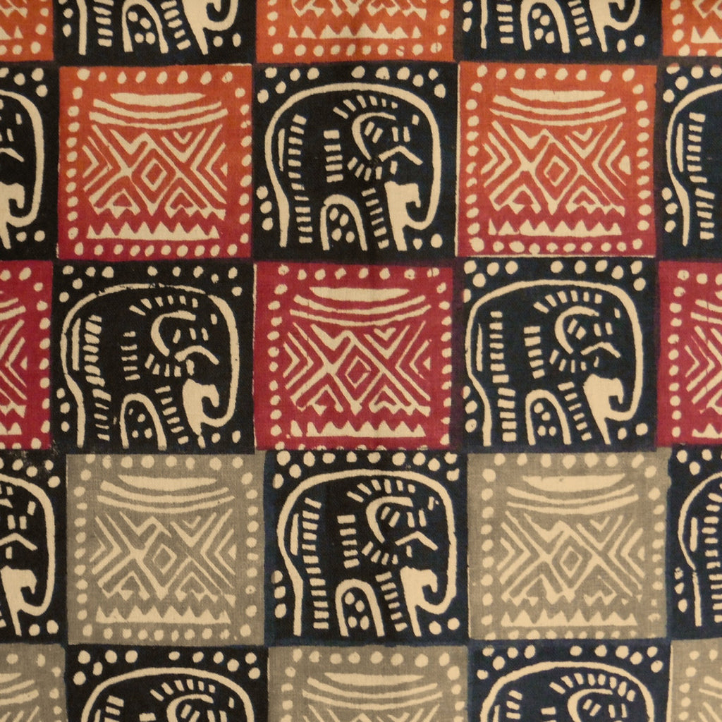 Zimbabwean Batik - Natural Elephant with Headrest