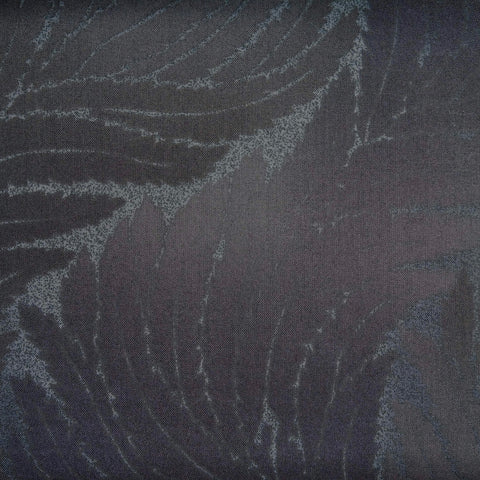 Japanese Quilting Print - Black Wavy Fern