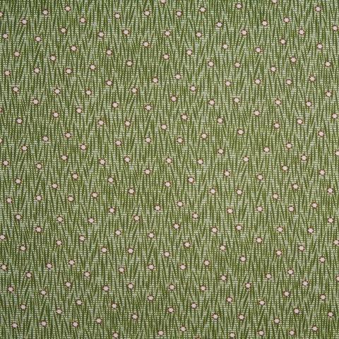 Japanese Quilting Print - Green Firefly
