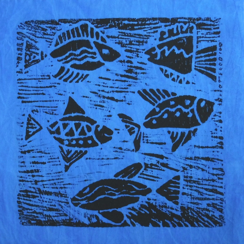 South African Panel - Fish Swimming in Purplish Blue