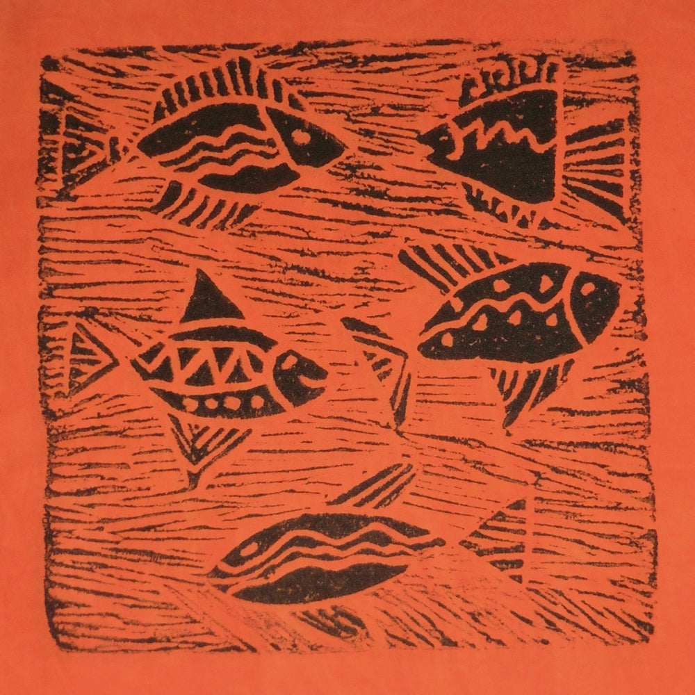 South African Panel - Fish Swimming in Orange