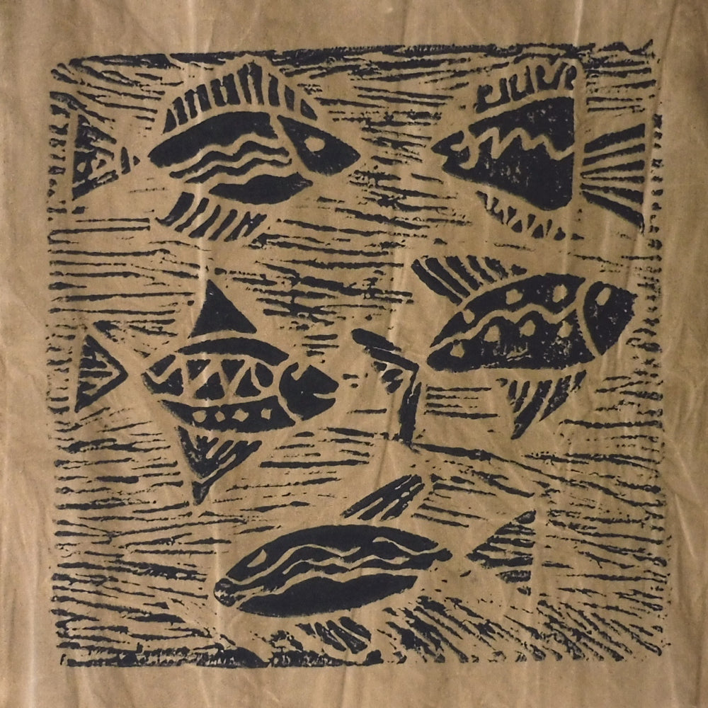 South African Panel - Fish Swimming in Tan