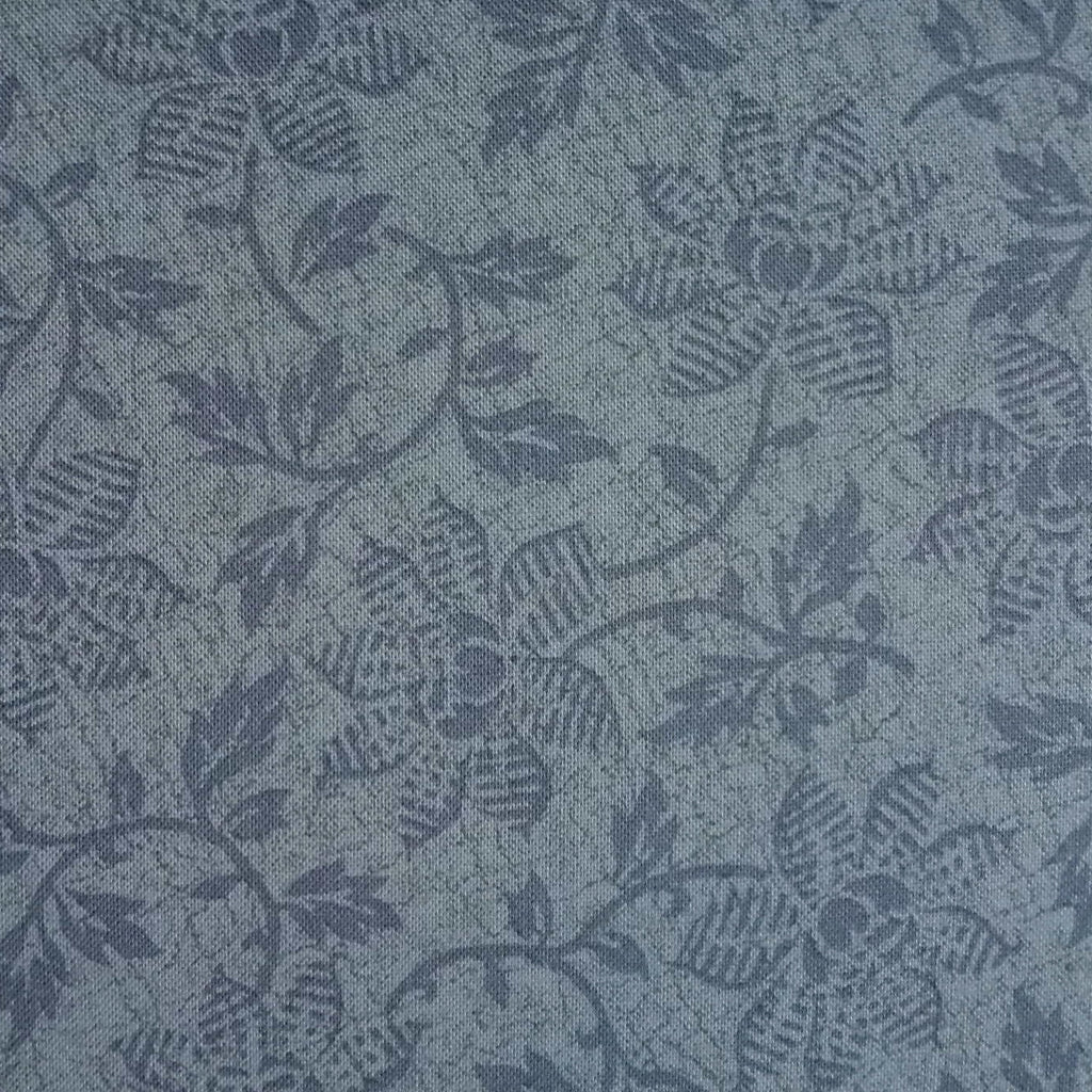 Japanese Quilting Print - Medium Blue Trailing Flower