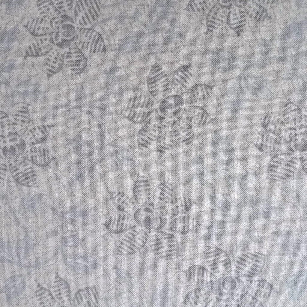 Japanese Quilting Print - Light Blue Trailing Flower