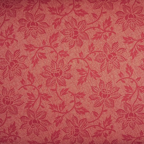 Japanese Quilting Print - Dark Pink Trailing Flower