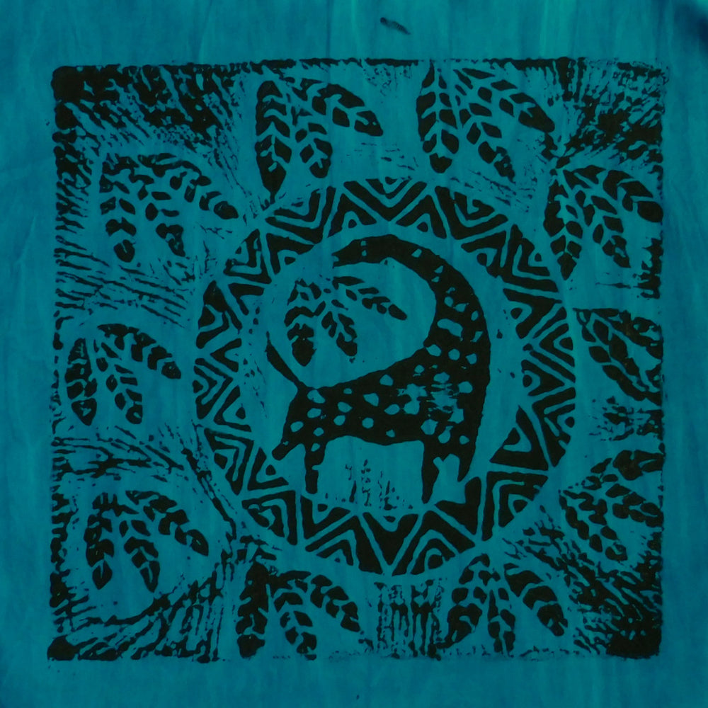 South African Panel - Giraffe Circled in Teal