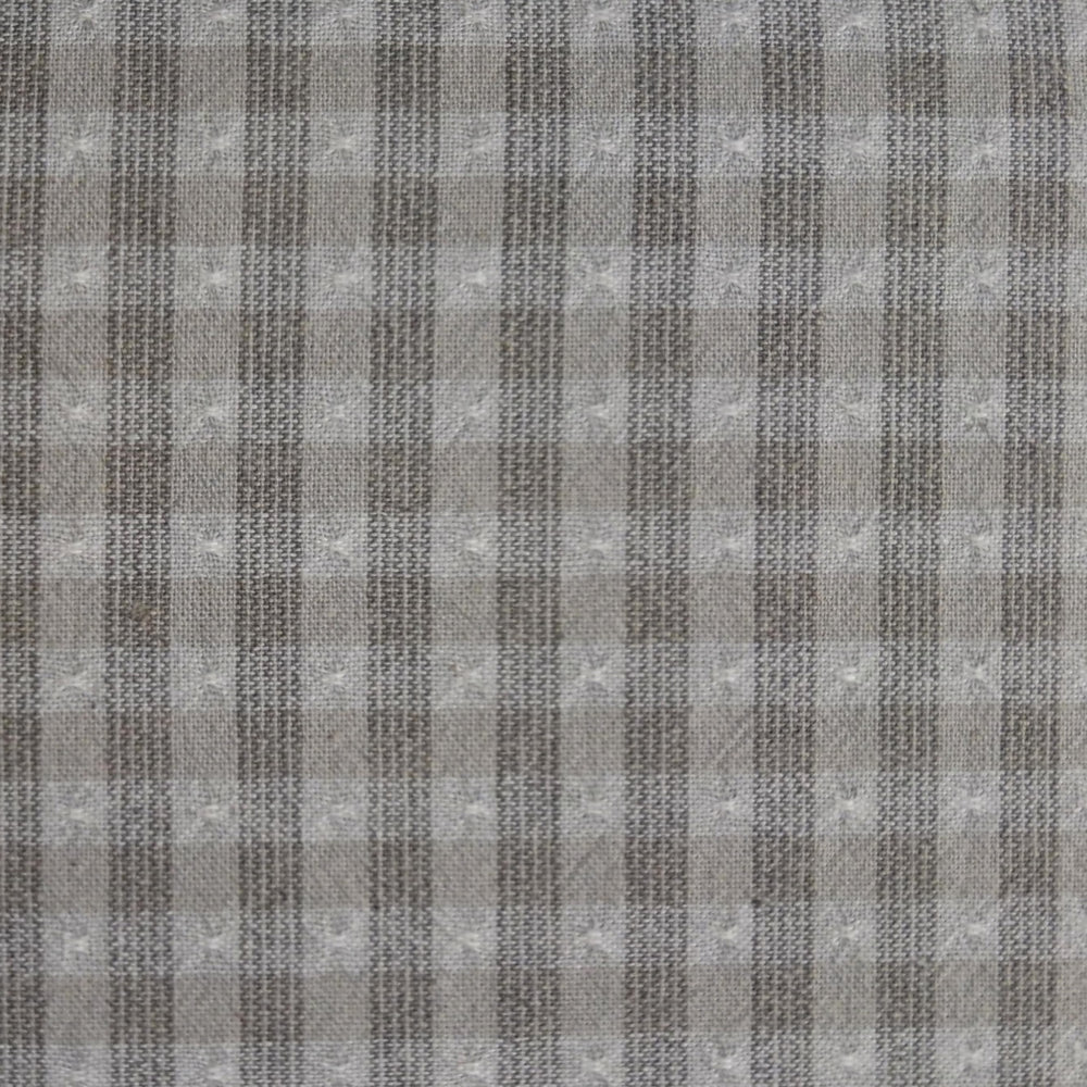 Japanese Yarn Dye - Pale Grey Tufted Check