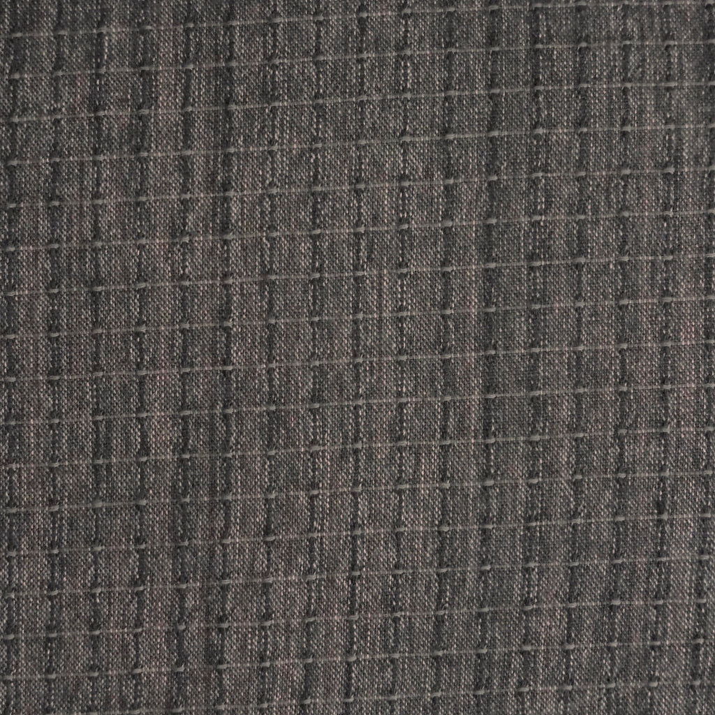 Japanese Yarn Dye - Dark Muddy Purple Textured Grid
