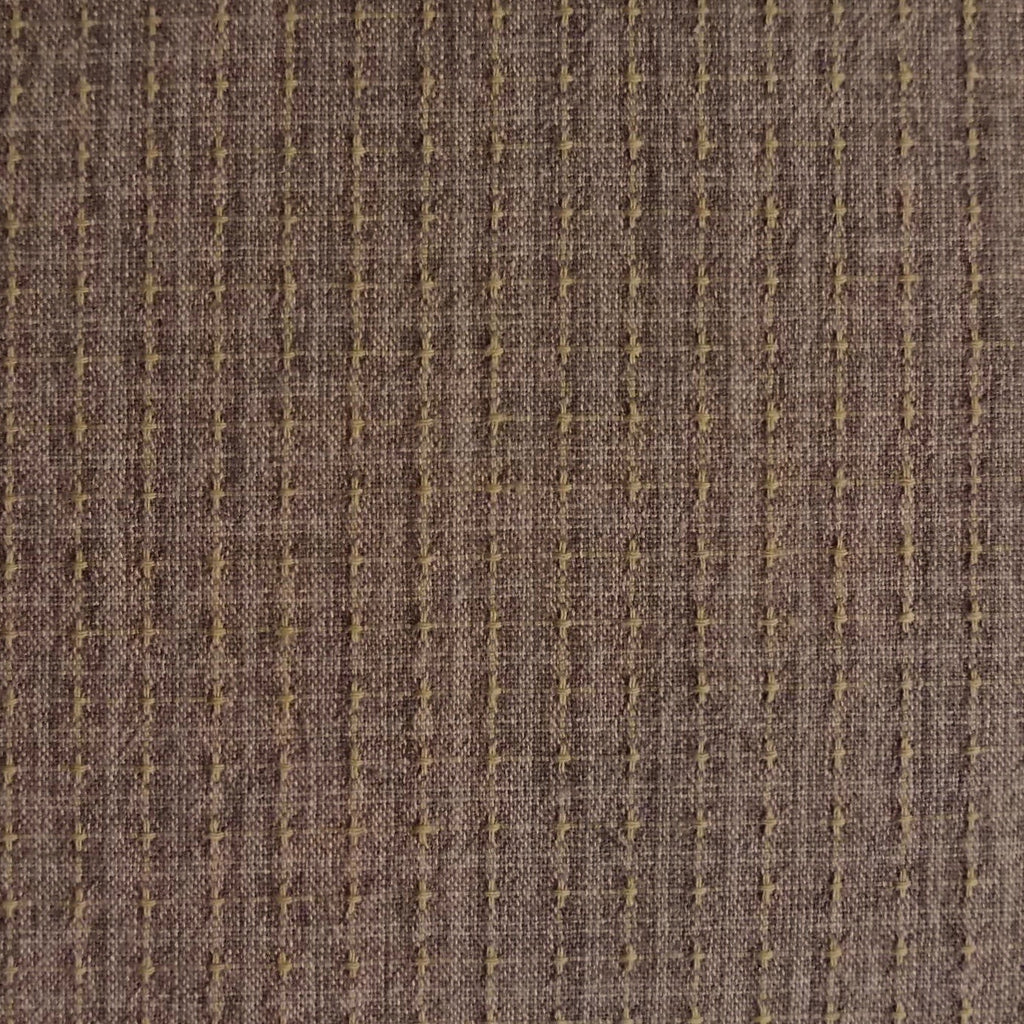 Japanese Yarn Dye - Warm Brown Textured Grid