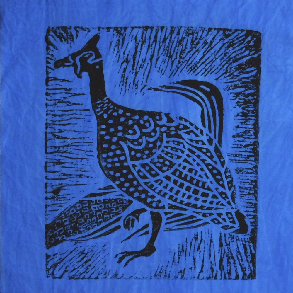 South African Panel - Guinea Hen in Purplish Blue