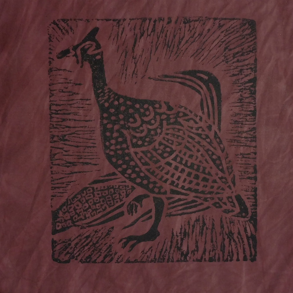 South African Panel - Guinea Hen in Purplish Brown