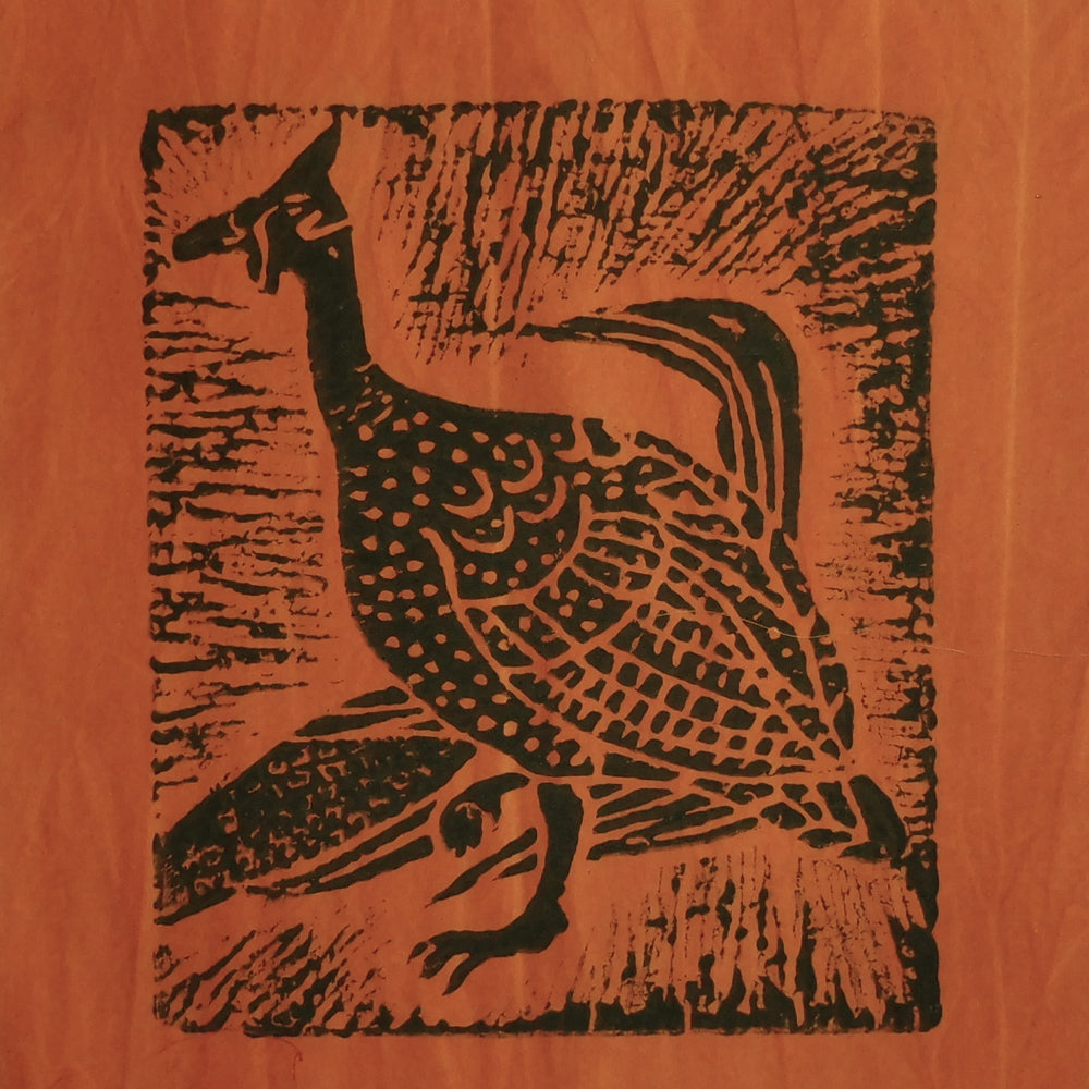South African Panel - Guinea Hen in Pumpkin Orange