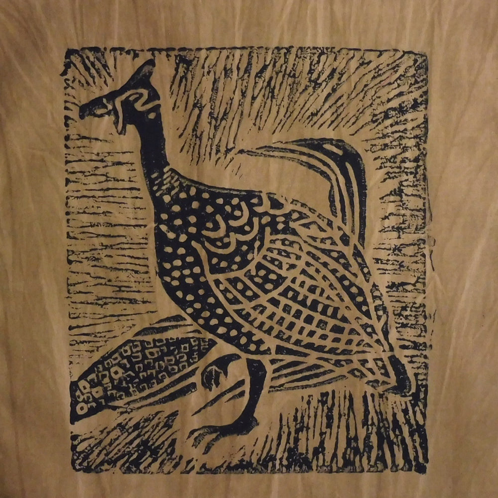 South African Panel - Guinea Hen in Tan